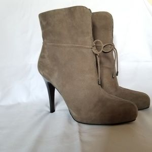 Banana Republic Suede Calf Boots Booties Heels